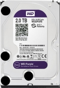 HDD 2000 GB (2 TB) SATA-III Purple (WD20PURX) Жесткий диск (HDD), стандарт SATA-III, объем 2000 GB (2 TB) для видеонаблюдения